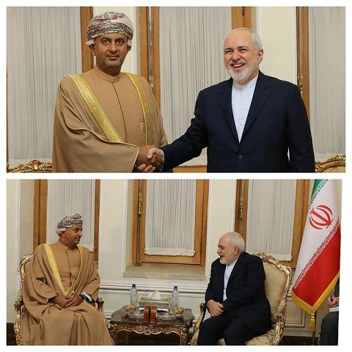دیدار وزیر تجارت و صنعت عمان با ظریف