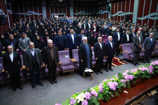 روحانی در دانشگاه فرهنگیان: اگر کسی بخواهد به نمایندگی از ملت صحبت کند، رئیس جمهور است