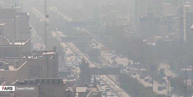 افزایش آلودگی هوا در تهران