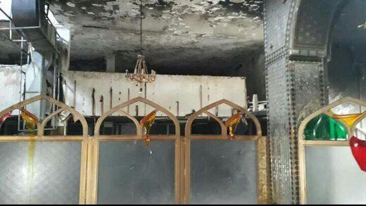 سرقت و آتش زدن یک امامزاده در شیراز