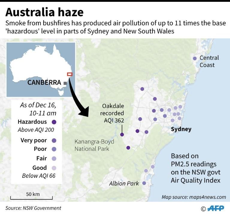 منطقه آتش سوزی جنگل های استرالیا