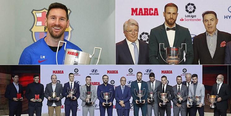 مسی و اوبلاک برترینهای فوتبال اسپانیا شدند