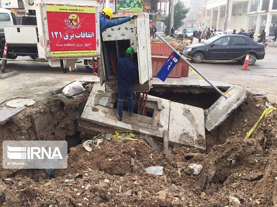فرونشست در خیابان سلمان فارسی اهواز