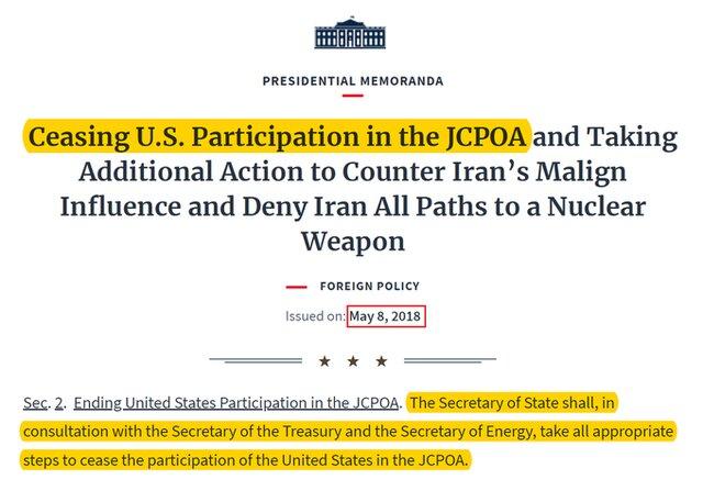 انتقاد توییتری ظریف از وزارت خارجه آمریکا