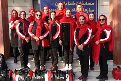 بانوان بوشهر قهرمان شنای کارکنان بنادر کشور شدند
