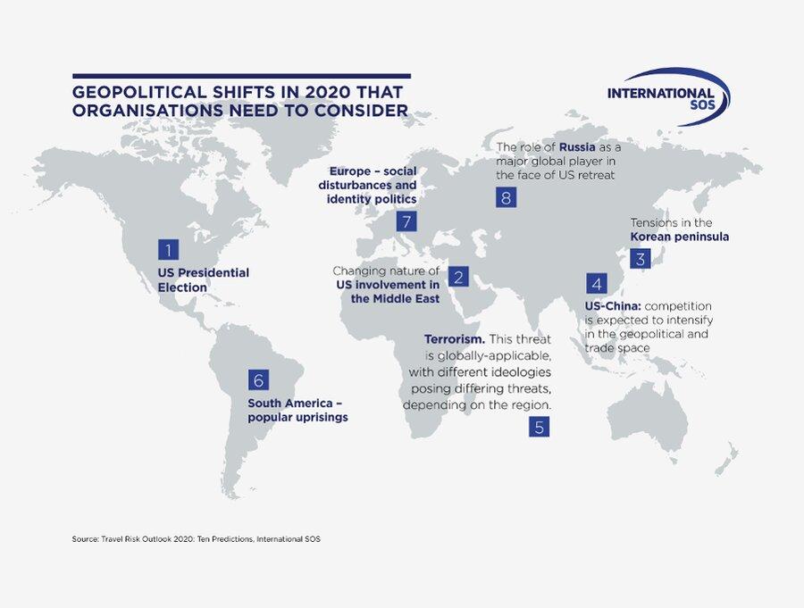 خطرناکترین کشورهای دنیا برای سفر در ۲۰۲۰