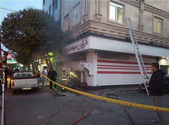 حریق دفتر پیشخوان دولت در جنوب تهران (+عکس)