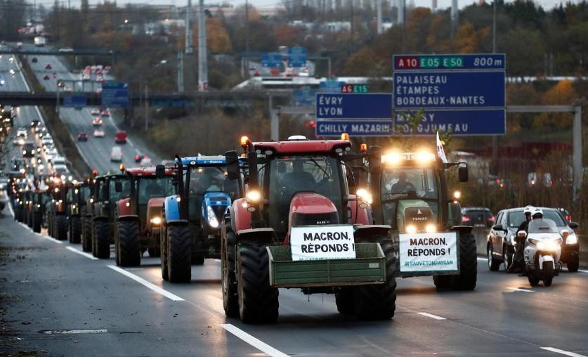 اعتراض کشاورزان فرانسه به دولت