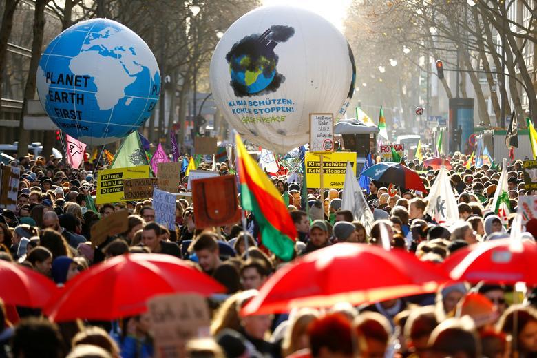 تظاهرات جهانی علیه تغییرات  اقلیمی