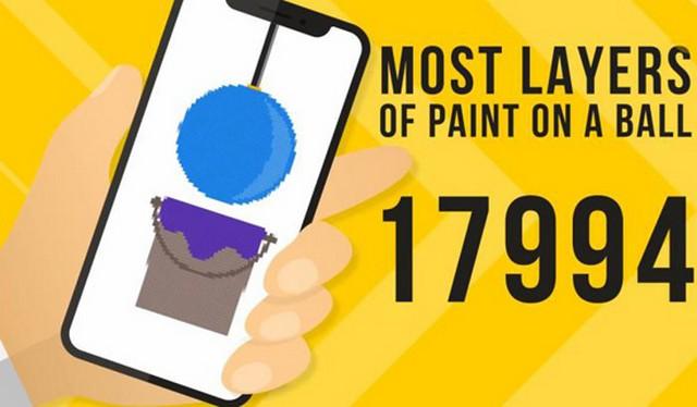 بیشترین لایههای رنگ روی یک توپ