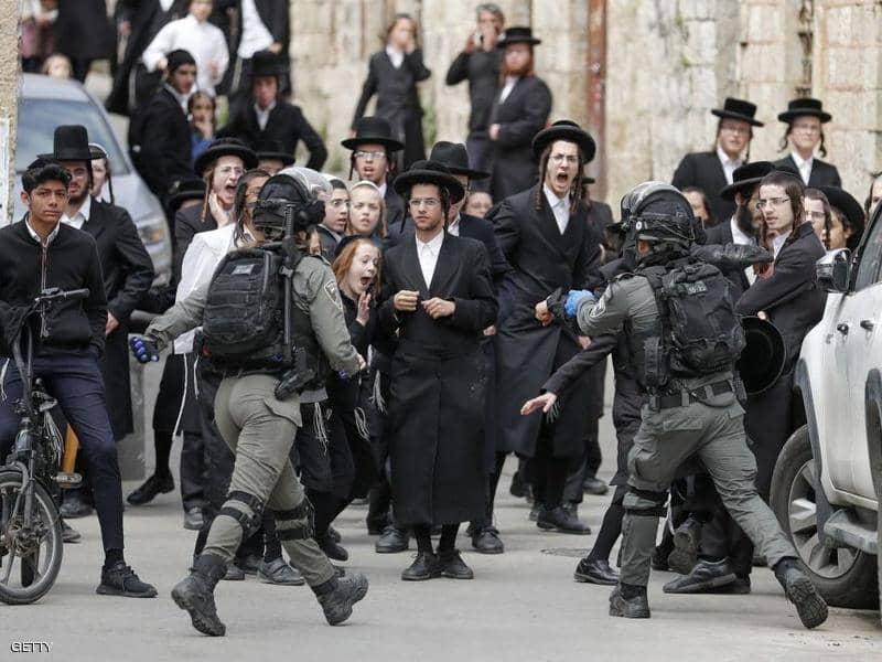 درگیری پلیس اسرائیل با یهودیان افراطی بر سر مقررات کرونا