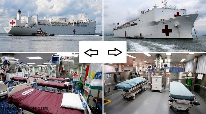 متفاوت ترین بیمارستان ویژه کووید 19 در آمریکا(+فیلم و تصاویر)