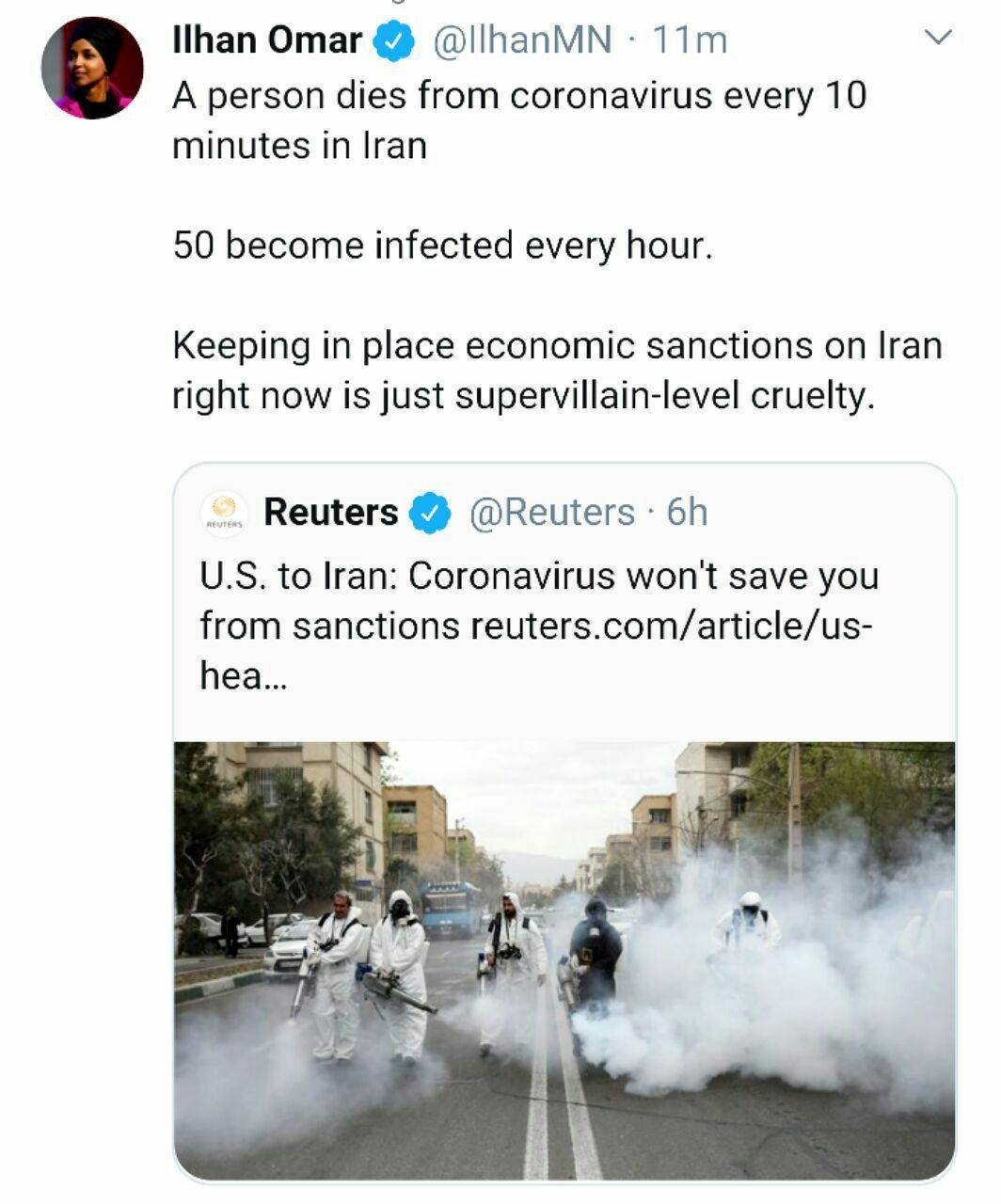 آمریکا: با وجود کرونا، دست از تحریم ایران بر نمیداریم