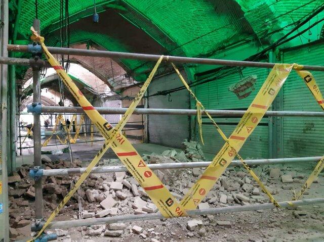 ریزش سقف بازار امین السلطان تهران برای دومین بار (+عکس)