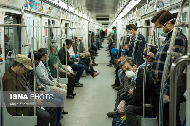 رشد ۴۰ درصدی مسافران مترو/ حتما ماسک بزنید