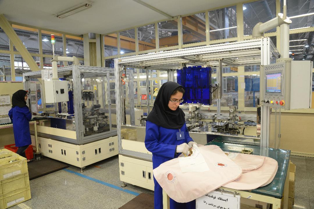 آمادگی تولید روزانه ۸۵۰۰ عدد ایربگ در خطوط تولیدی کروز