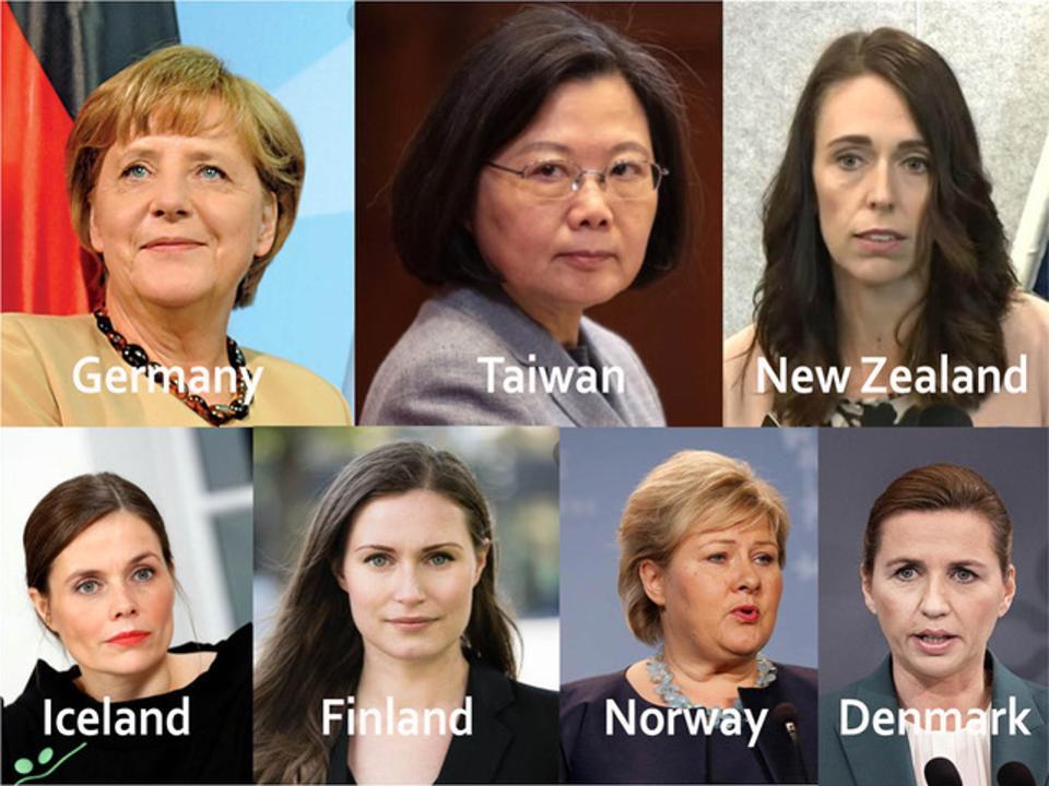 رهبری زنان جهان کرونا