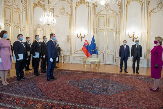 مراسم تحلیف نخست وزیر جدید اسلواکی