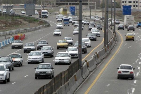بار ترافیکی روان در تهران