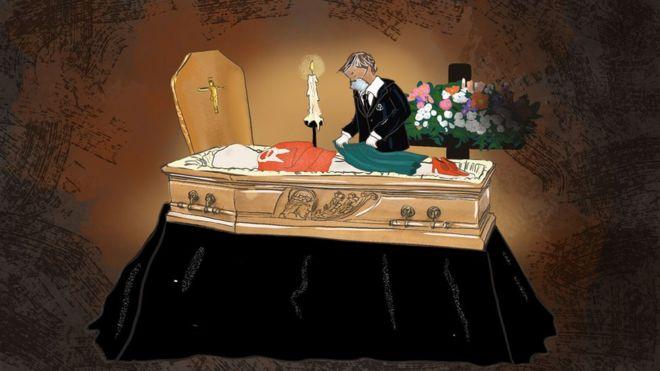 مراسم تدفین کرونا
