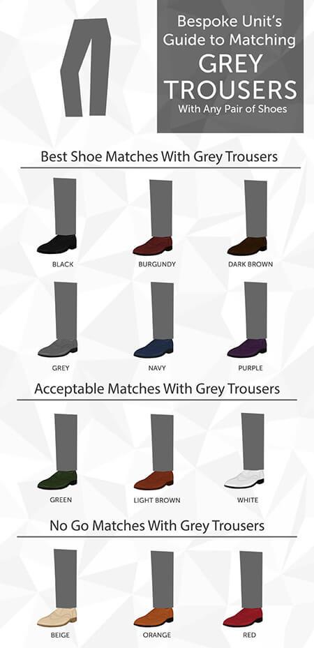راهنمای انتخاب رنگ کفش با شلوار خاکستری