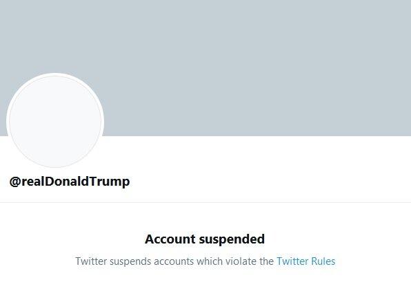 صفحه توییتر ترامپ برای همیشه بسته شد