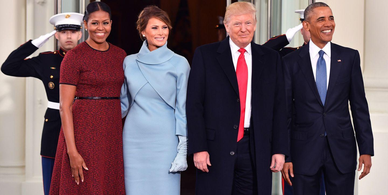 خوش آمد گویی میشل اوباما به  ملانیا ترامپ