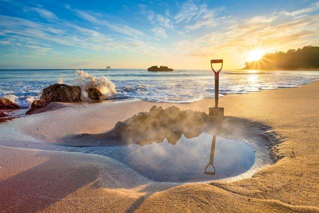 ساحل Hot Water، نیوزیلند