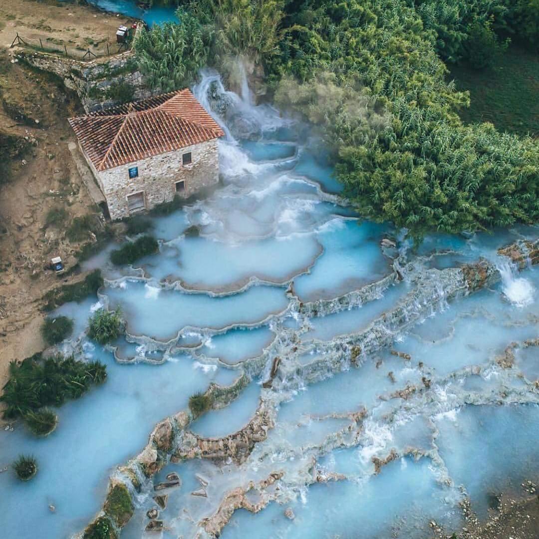 آبگرم Terme di Saturnia، ایتالیا