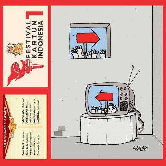 جایزه اندونزی برای کاریکاتوریست شیرازی