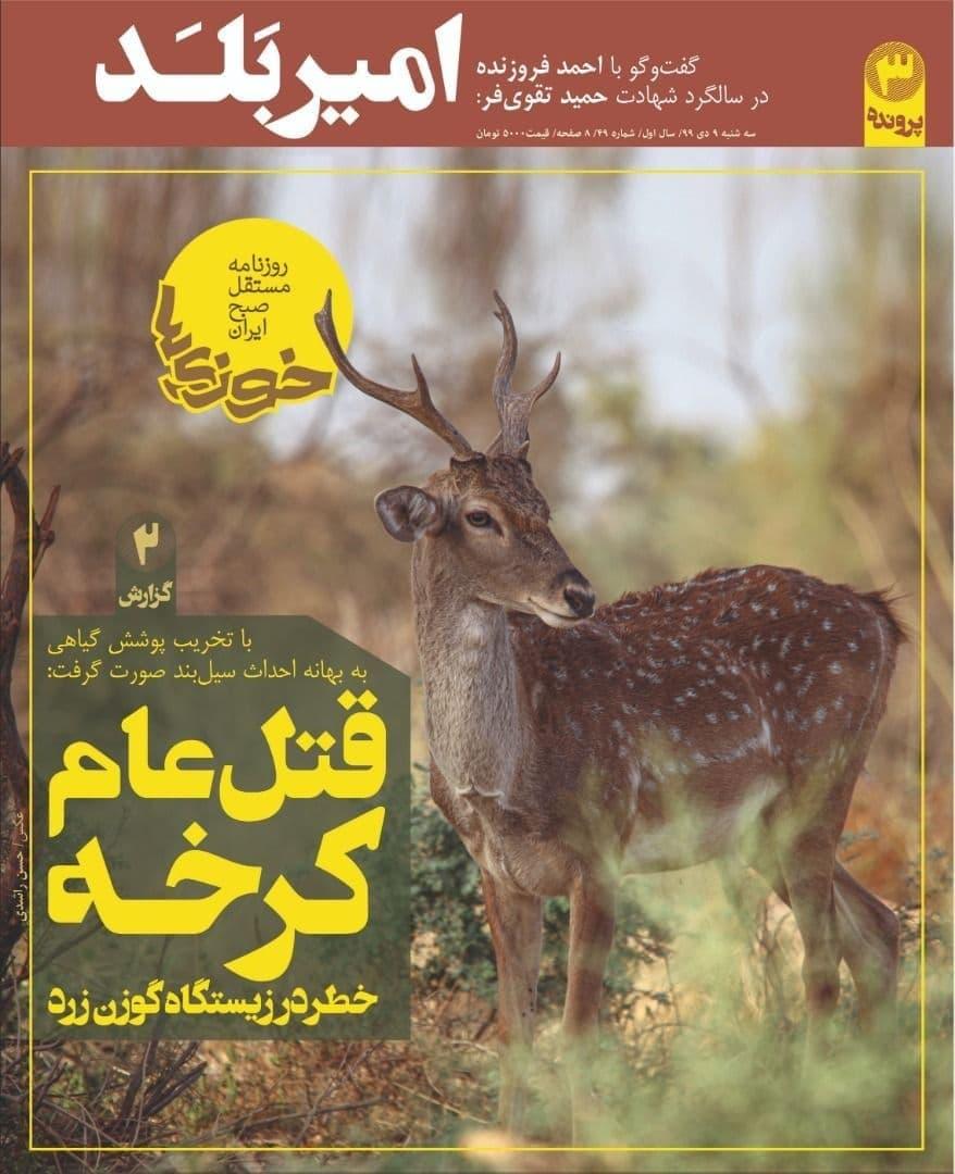 تخریب زیستگاه گوزن زرد ایرانی و پرندگان در کرخه ادامه دارد