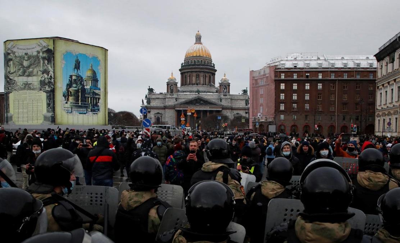 اعتراض به بازداشت ناوالنی در روسیه