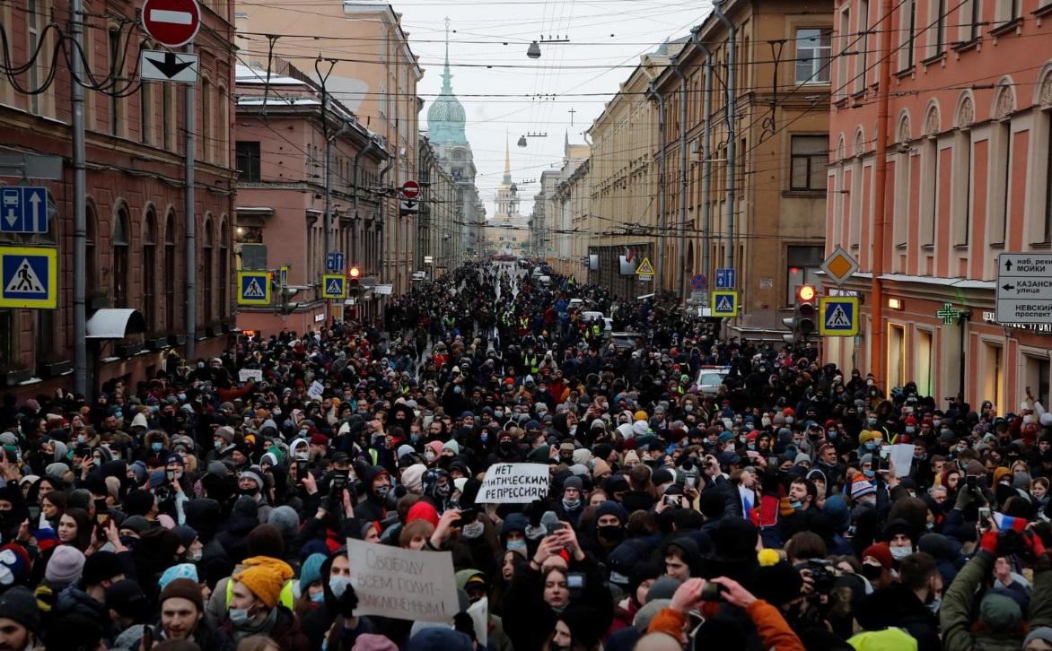تظاهرات روسیه ناوالنی