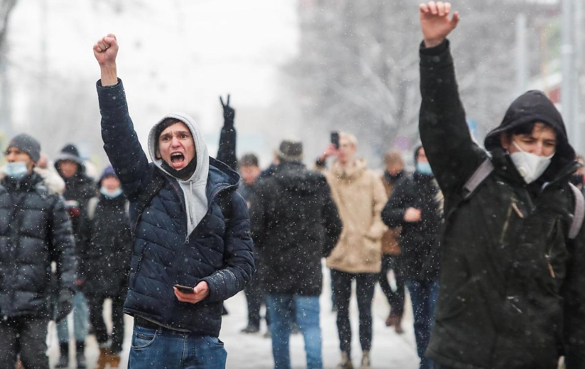 تظاهرات مسکو ناوالنی