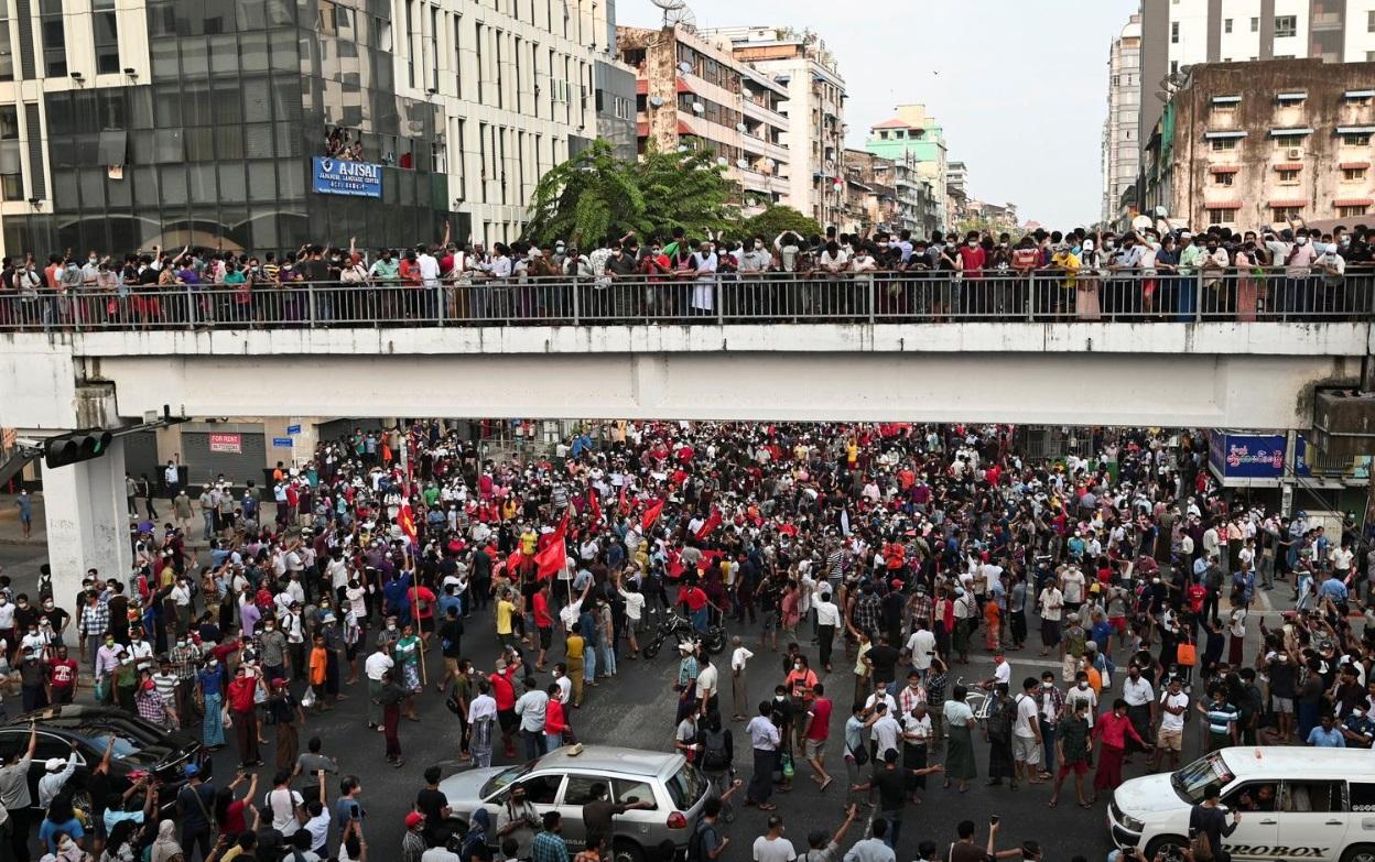تظاهرات میانمار