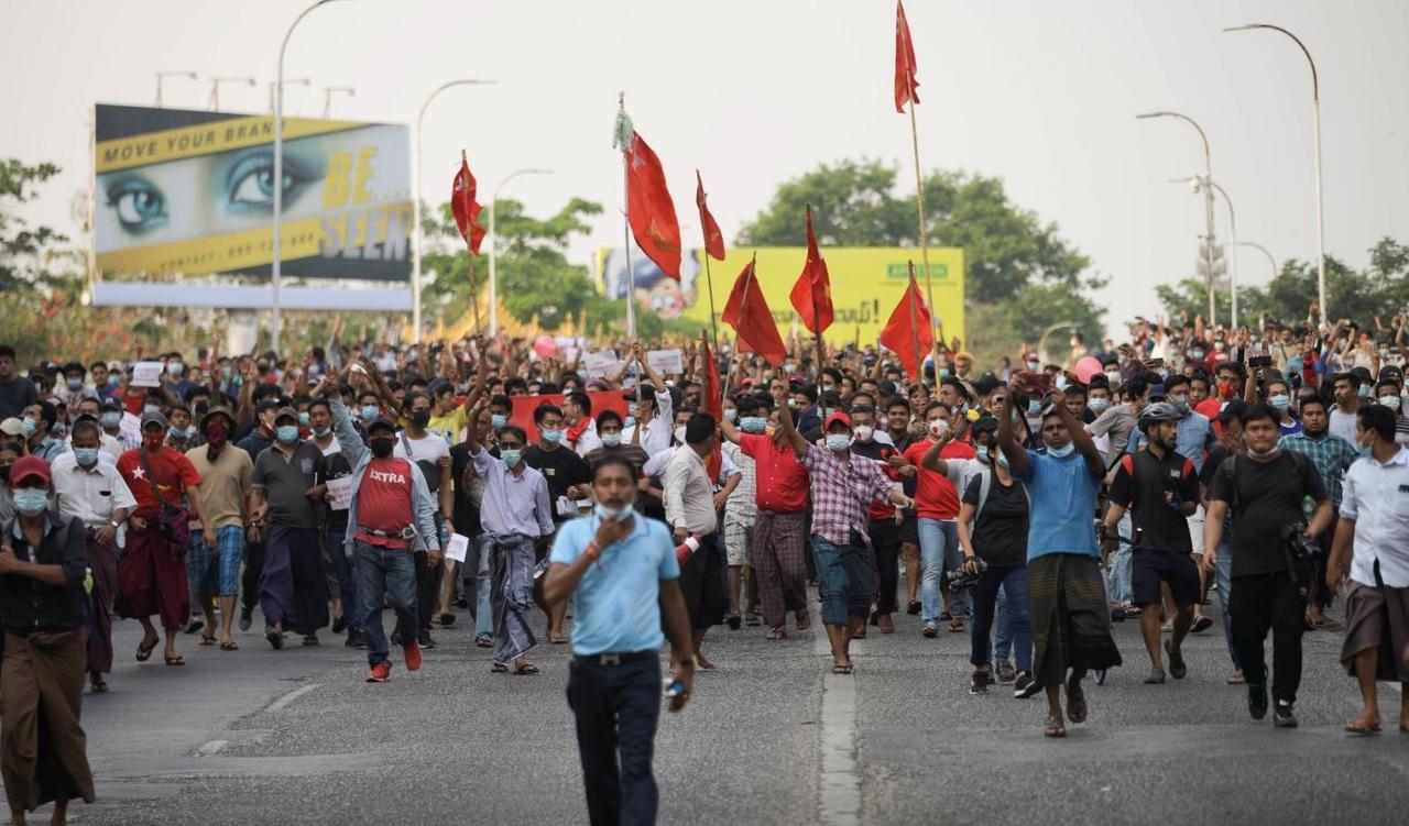 تظاهرات میانمار پس از کودتا