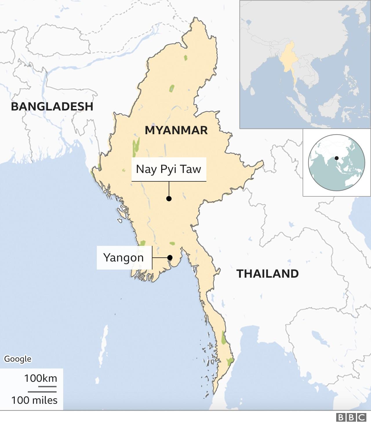 نقشه میانمار