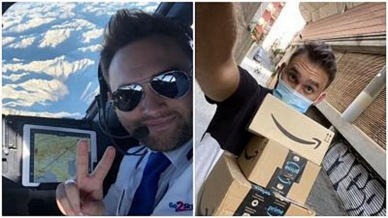 مشاغل جدید خلبانان بیکار شده اروپایی/ از پیک آمازون تا فروش قهوه استارباکس