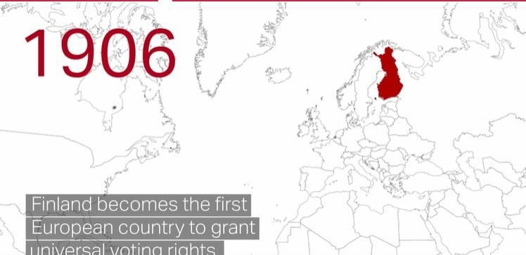 فنلاند اولین کشور اروپا با حق رای زنام