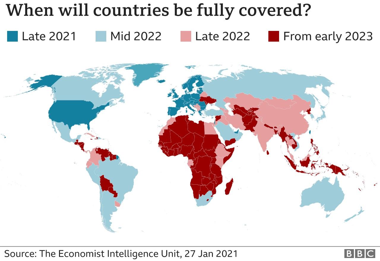 واکسیناسیون در کشورهای جهان