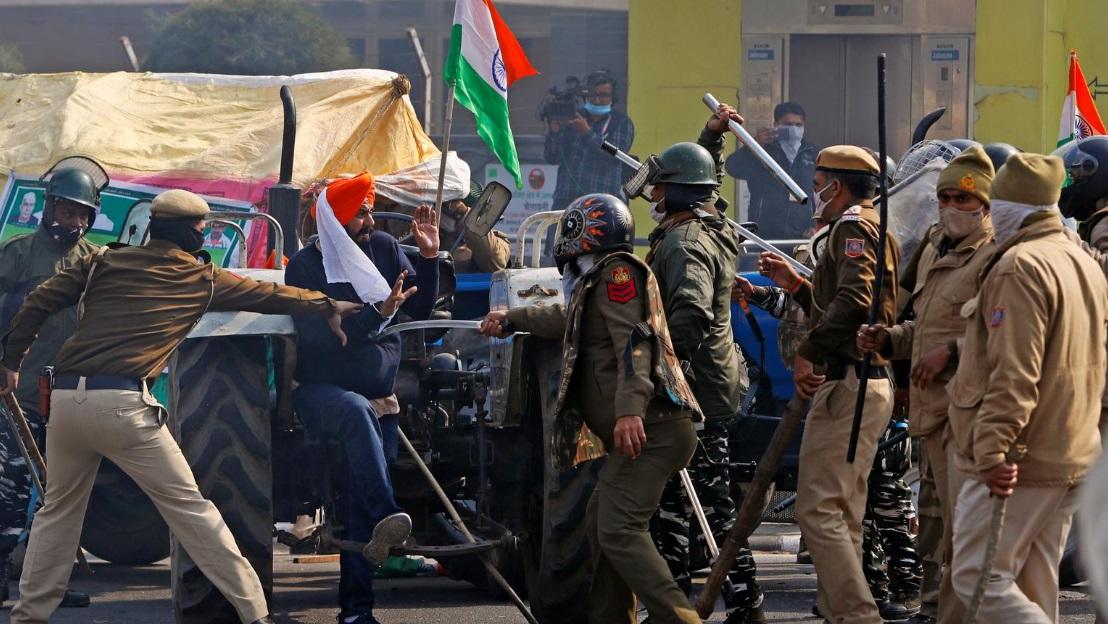 تظاهرات کشاورزان هند