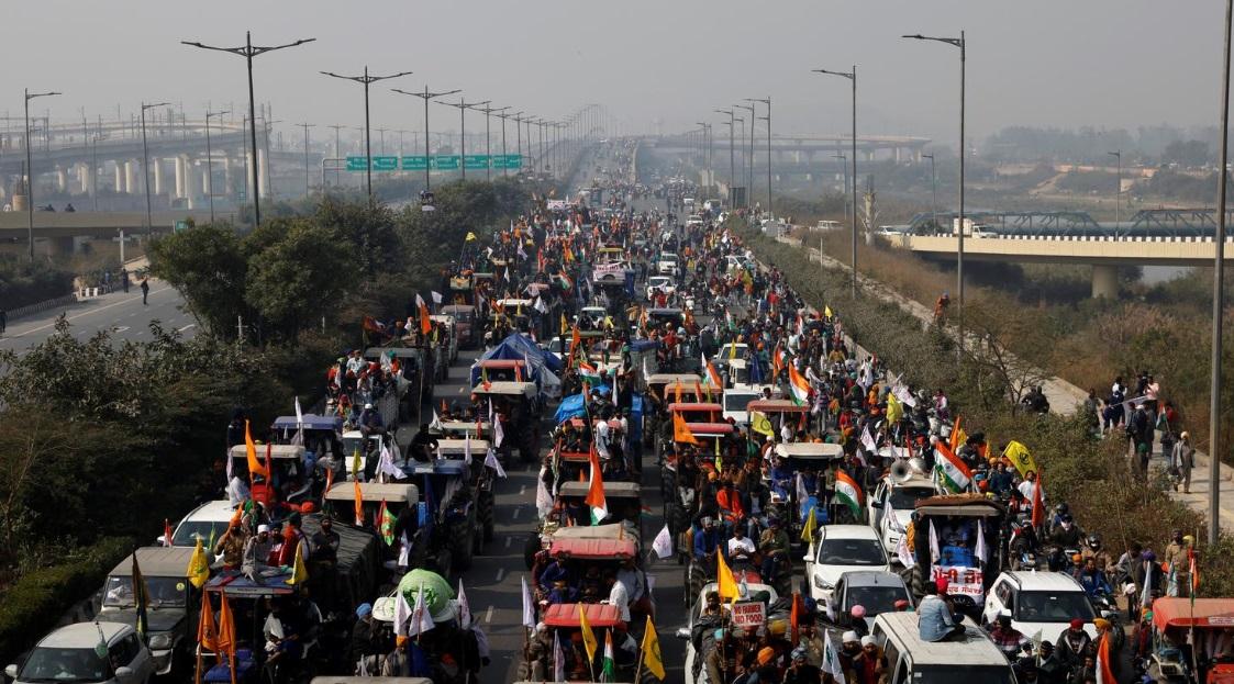 معترضان کشاورز هندی