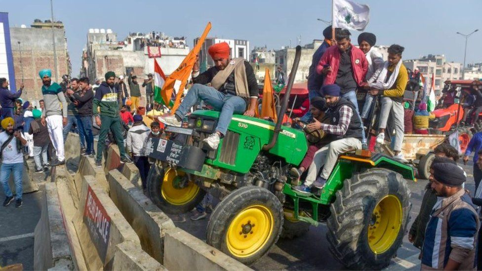 اعتراضات تراکتوری هند