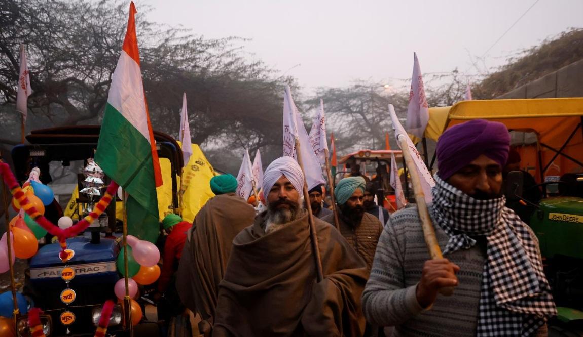 اعتراض تراکتوری کشاورزان هند