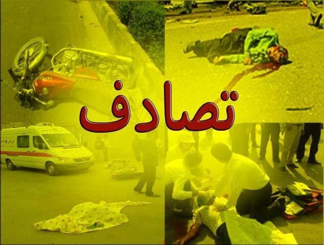 ٢١ مصدوم در تصادف اتوبوس با تریلی در شیراز
