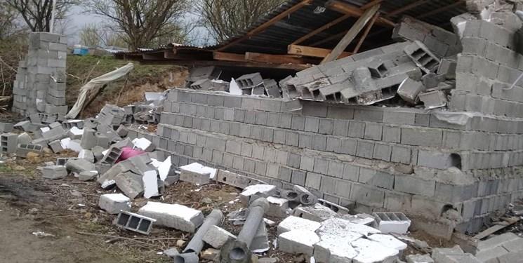 خانه تخریب شده بابل
