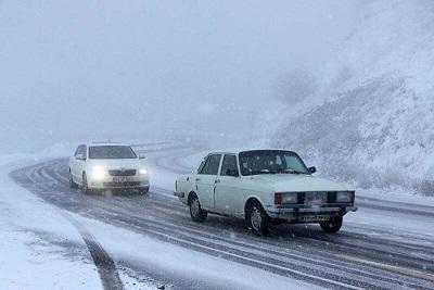 برف و کولاک در راه اردبیل