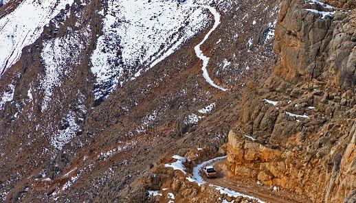 احتمال سقوط بهمن در جاده چالوس