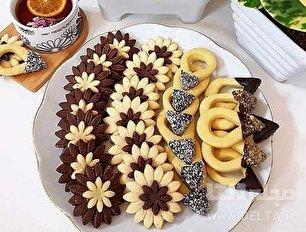 طرز تهیه شیرینی گل مینا برای عید