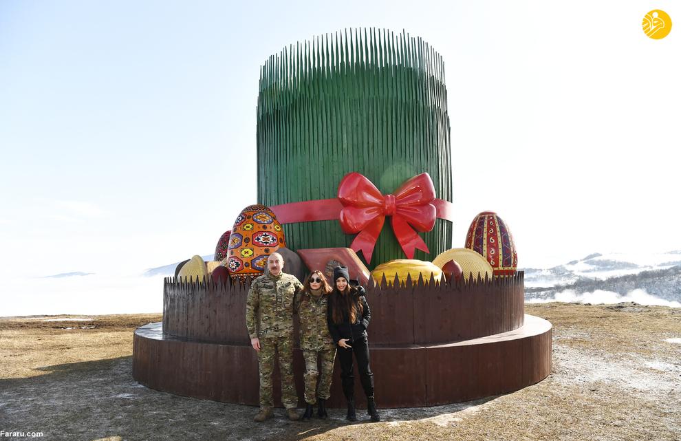 جشن نوروز رییس جمهور آذربایجان با خانواده اش (+تصاویر)